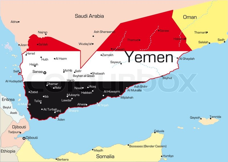 Image Gallery Yemen Country - Yemen maps with countries