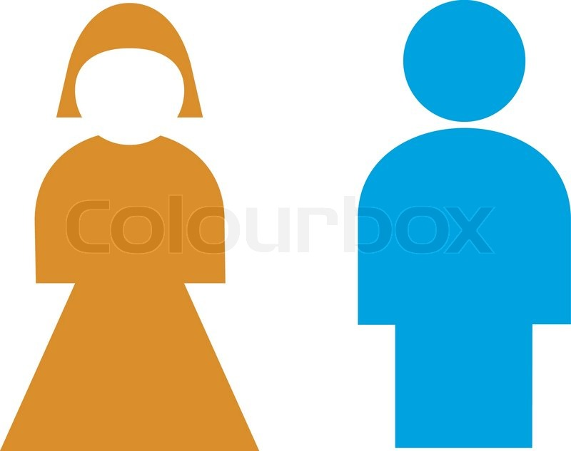 Bathroom Sign Male Vector vector illustration: restroom sign, male, female | stock vector