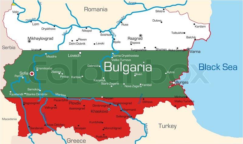 Abstract Vector Color Map Of Bulgaria Stock Vector Colourbox