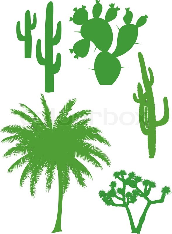 abstract vector illustrations of trees and plants stock vector rh colourbox com vector plants free download vector plants illustrator