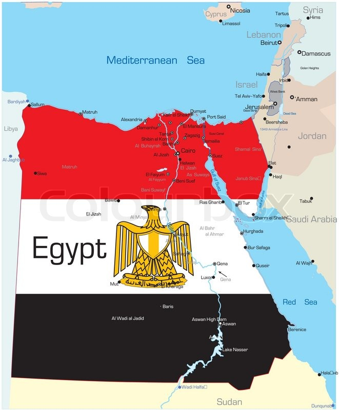 About Egypt Country Map