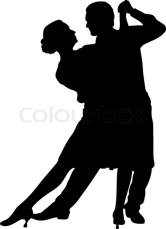 Vector illustration of a couple dancing | Stock Vector ...