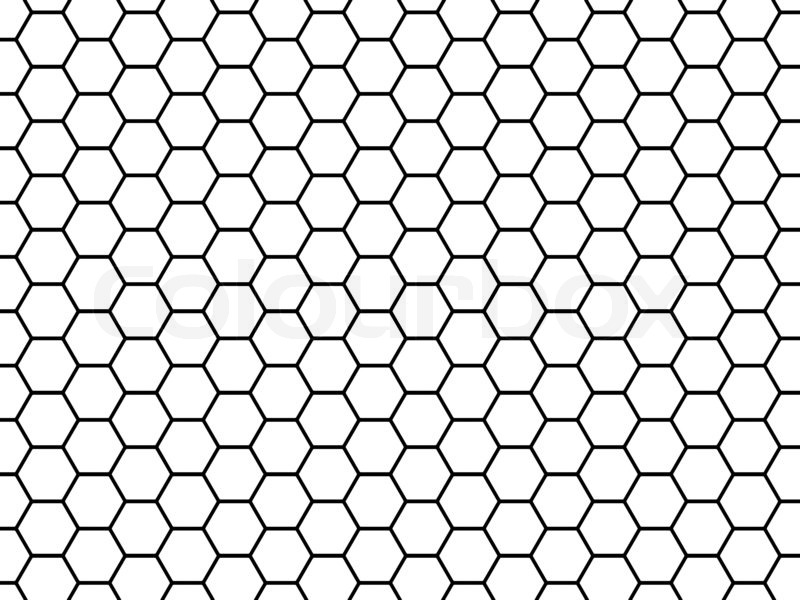 Stock image of 'Honeycomb grid'