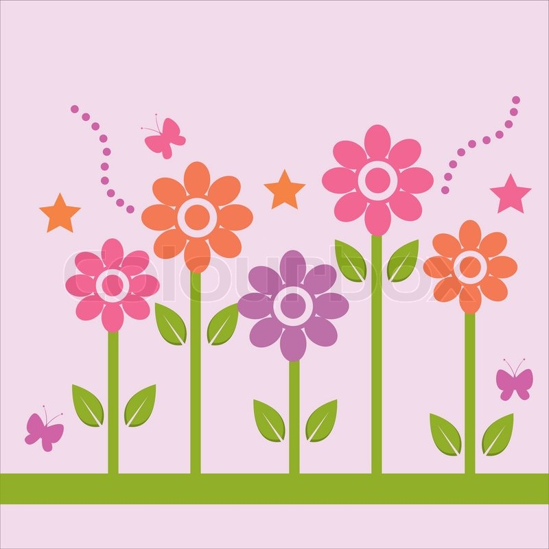 Cute spring background | Stock Vector | Colourbox