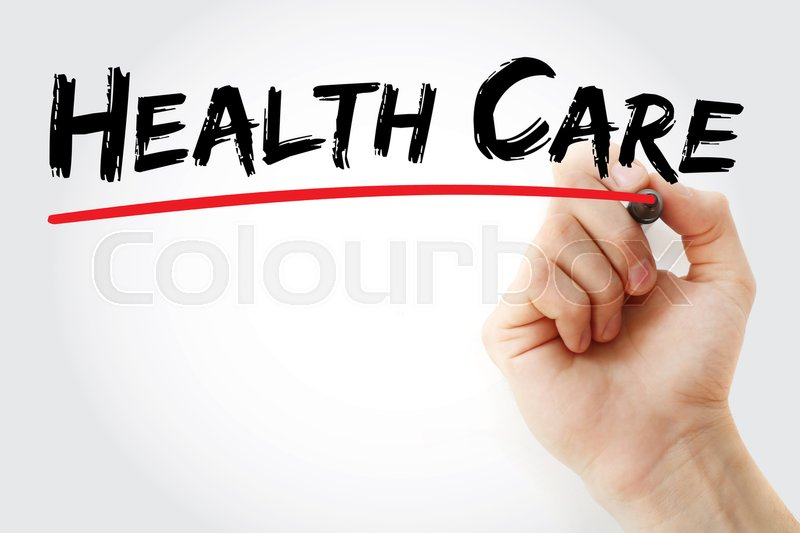 Hand writing Health care with marker, health concept, stock photo