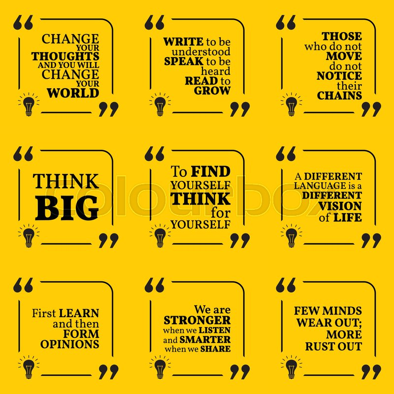 Set Of Motivational Quotes About Stock Vector Colourbox