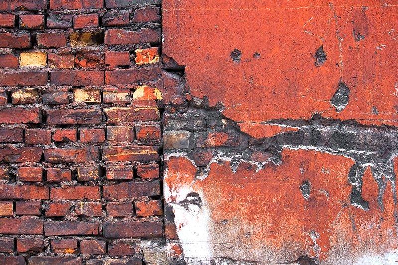Grunge red brick texture, stock photo