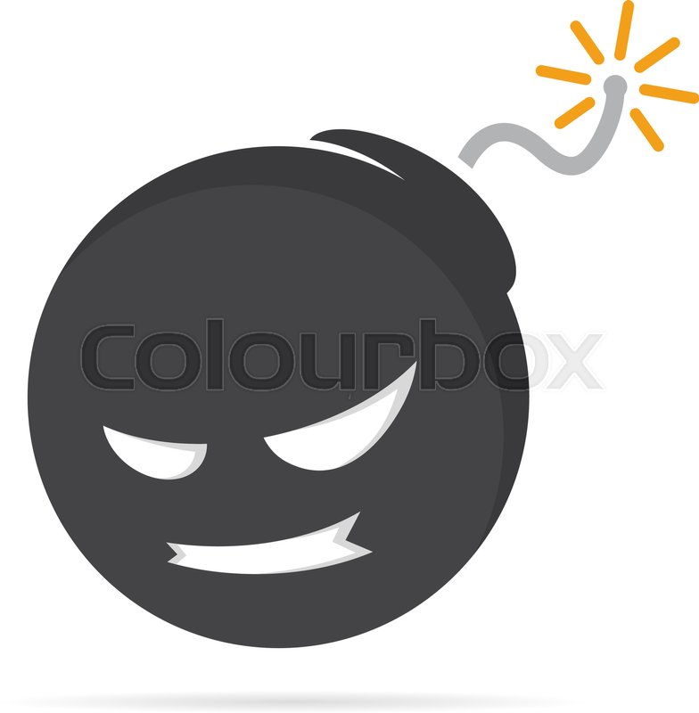 Vector Logo Design Combination Of A Angry Face And Bomb Angry Face