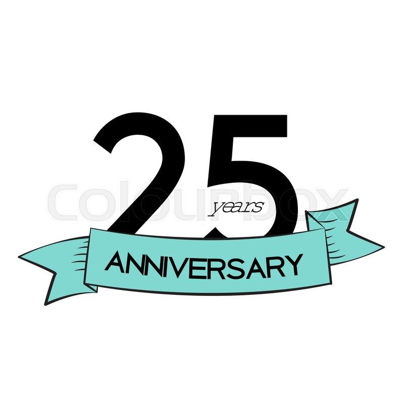 template logo 25 years anniversary vector illustration eps10 stock rh colourbox com 25 years logo vector free 25 years logo vector free