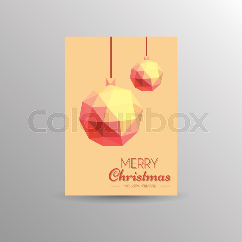 Simple Christmas card template | Stock Vector | Colourbox