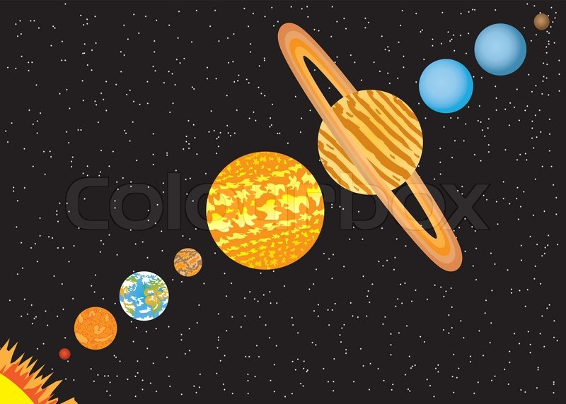 Cartoon von Raumfahrern im Weltraum - defreepikcom