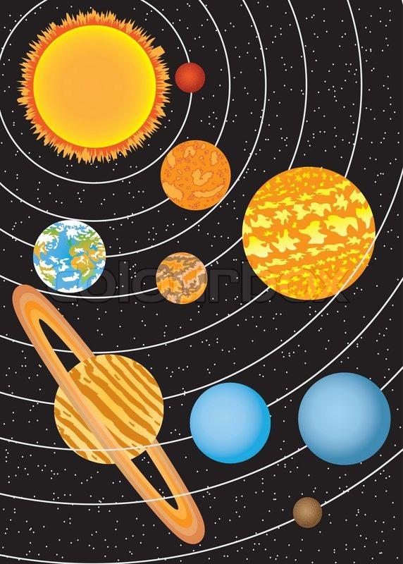 Sonnensystem Vektorgrafik Colourbox