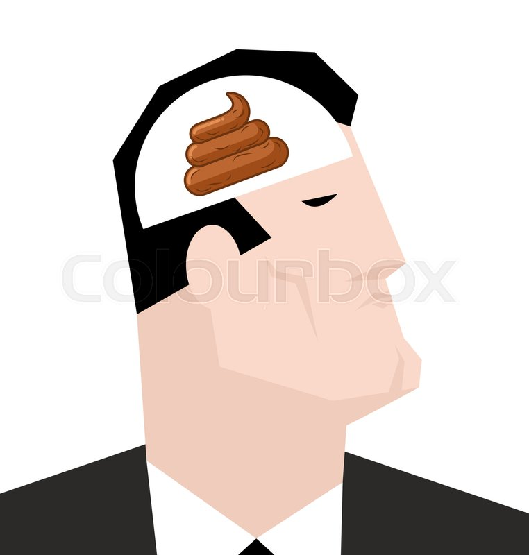 Shit in head bad thoughts nasty consciousness turd in brain man shit in head bad thoughts nasty consciousness turd in brain man and meditation dumb manager stupid businessman vector thecheapjerseys Gallery