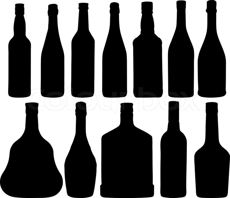 abstract vector illustration of the different bottles stock vector rh colourbox com bottle vector png bottle vector free download