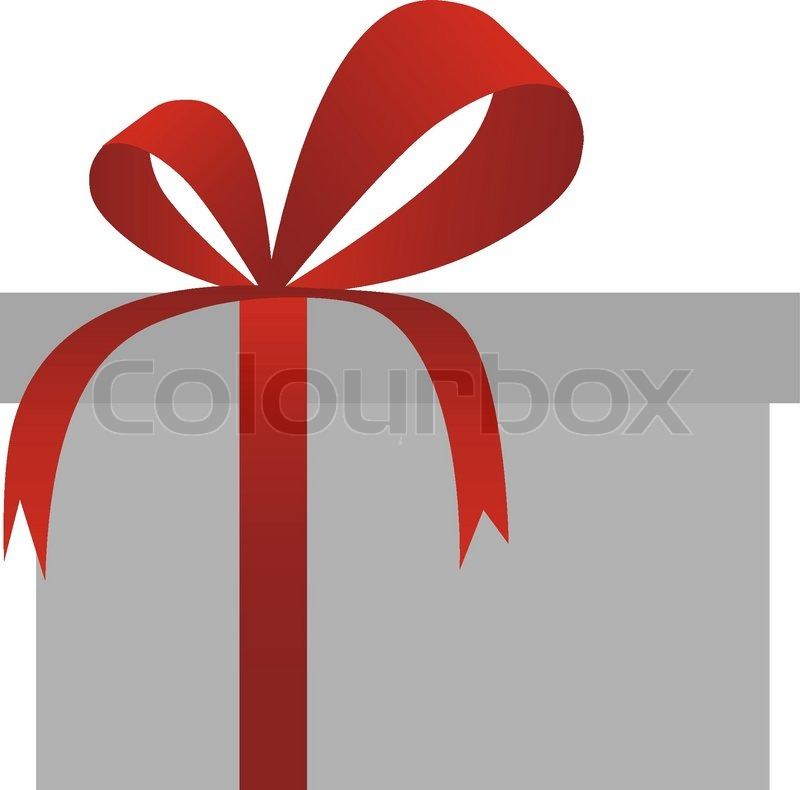 Vector red gift box with ribbon isolated on white background vector red gift box with ribbon isolated on white background stock vector colourbox negle Choice Image