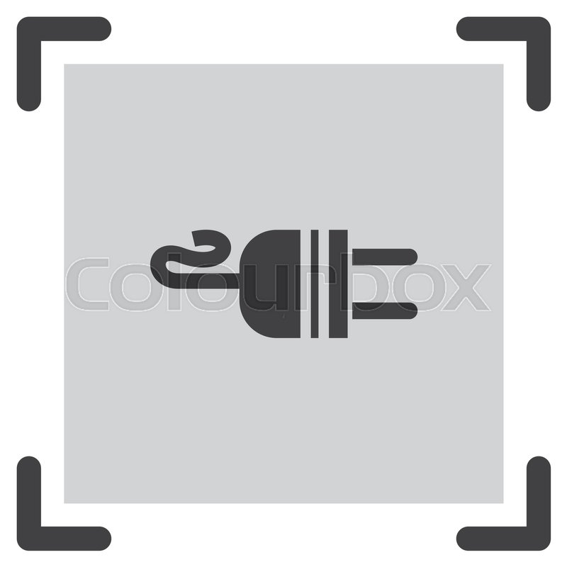 Electric AC Power Plug Vector Icon Sign Outlet Symbol