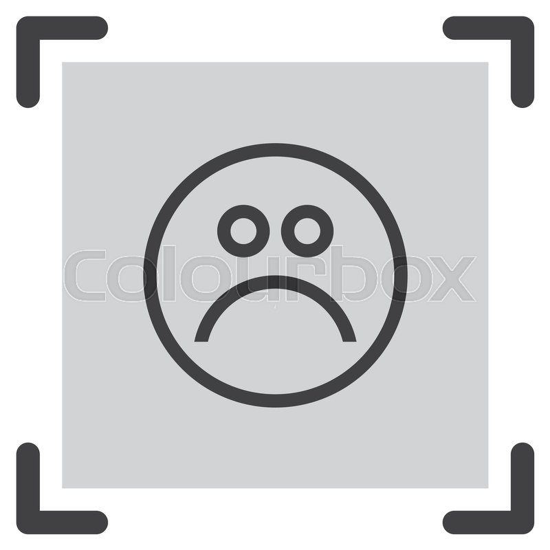 Sad Face Sign Line Vector Icon Emoticon Sign Sadness Symbol