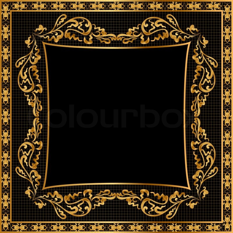 Illustration Frame Background Golden Stock Photo Colourbox