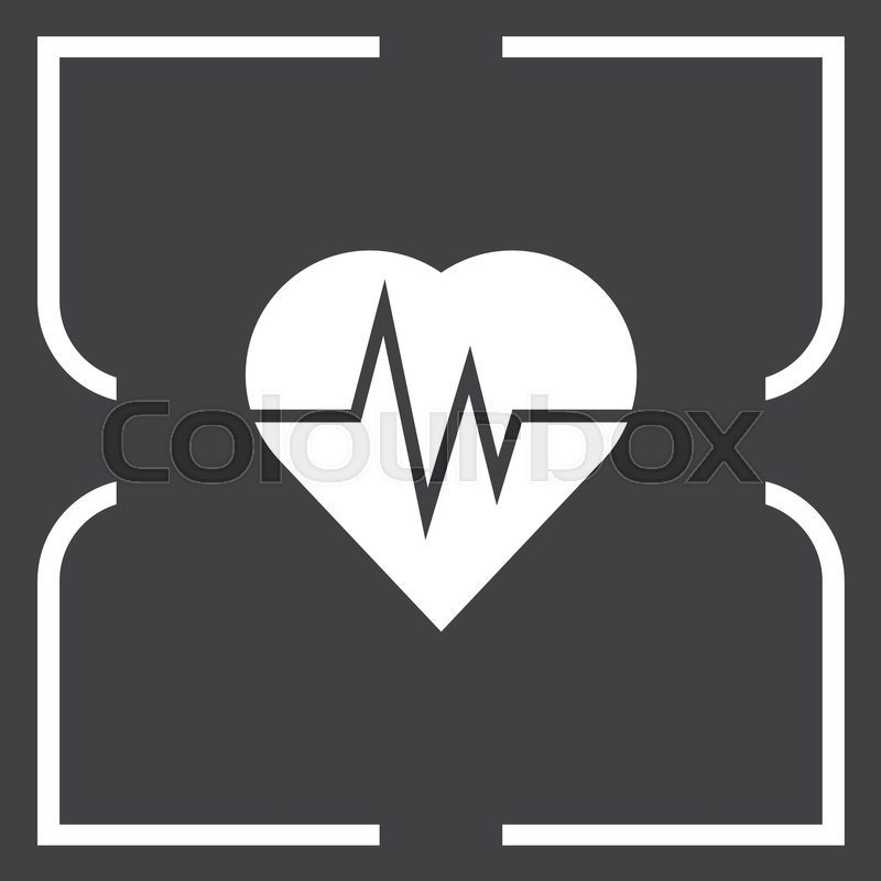 Heartbeat Vector Icon Love Sign Life Symbol Stock Vector Colourbox
