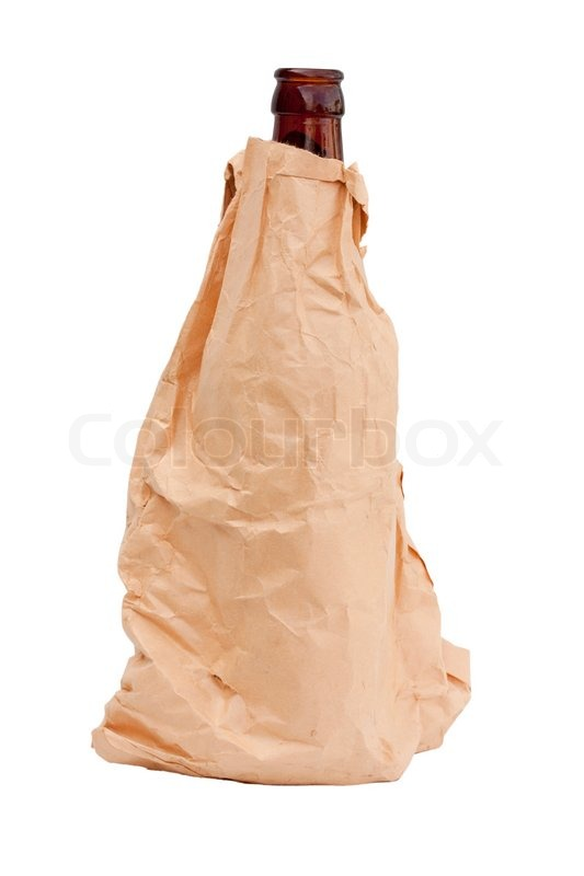 Brown paper bag with a bottle isolated against white background brown paper bag with a bottle isolated against white background stock photo colourbox malvernweather Choice Image