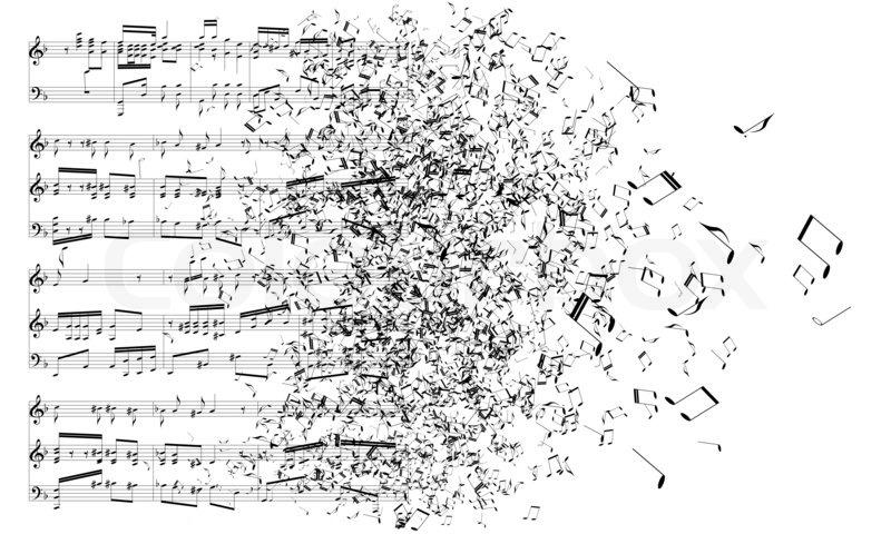 Music Notes Isolated On White Background Stock Photo