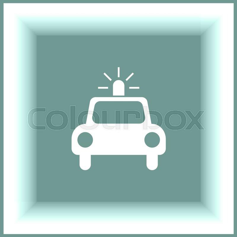 Police Car Vector Icon Cop Automobile Sign Security Vehicle Symbol