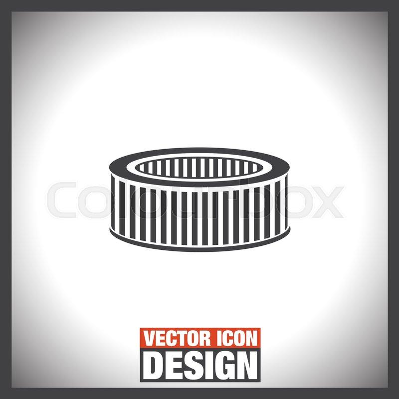 Car Air Filter Vector Icon Automobile Repair Service Symbol Car