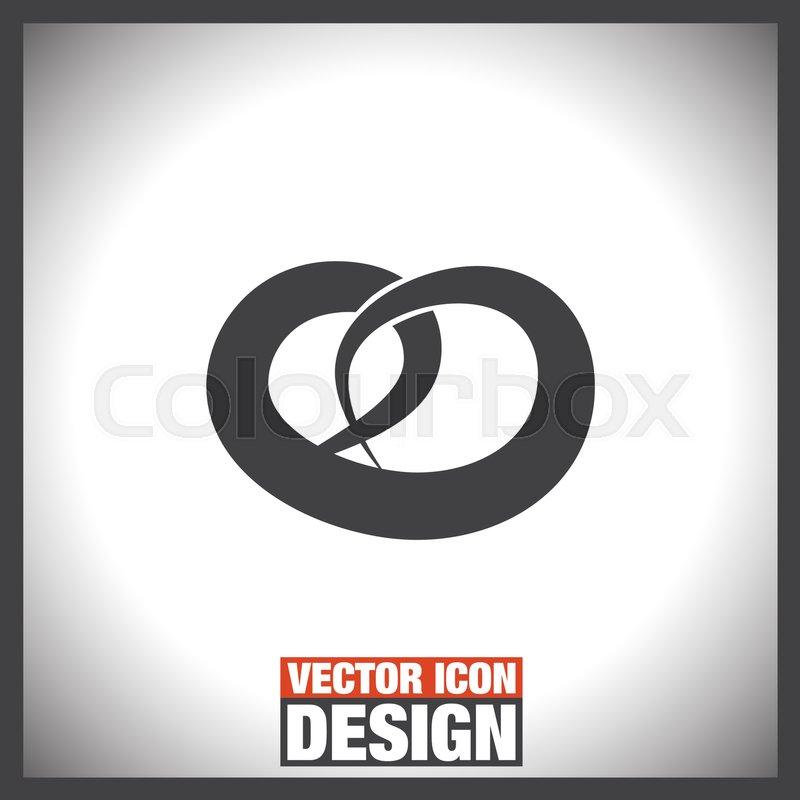 Pretzel Vector Icon Salty Snack Sign Bakery Symbol Stock Vector