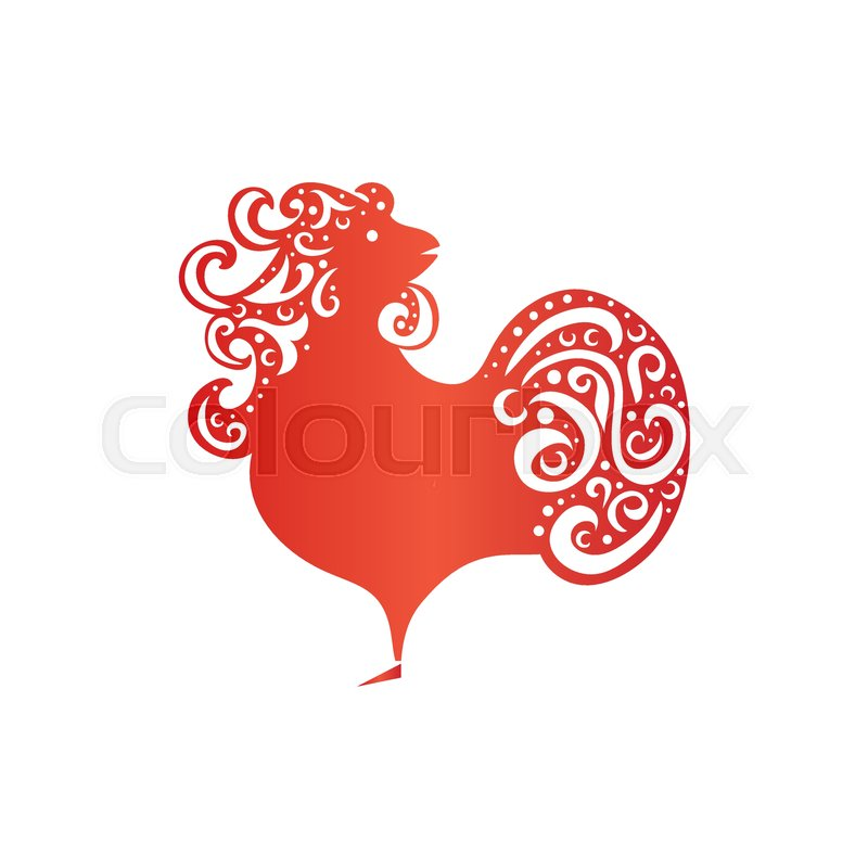 Chinese New Year 2017 Rooster Design Cock Symbol Of New Year 2017