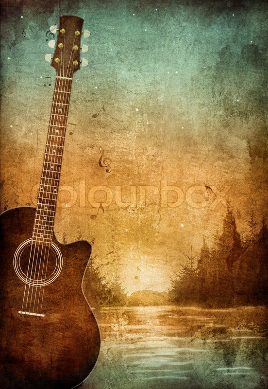Old Paper. Retro Music Party Texture Background | Stock Photo | Colourbox