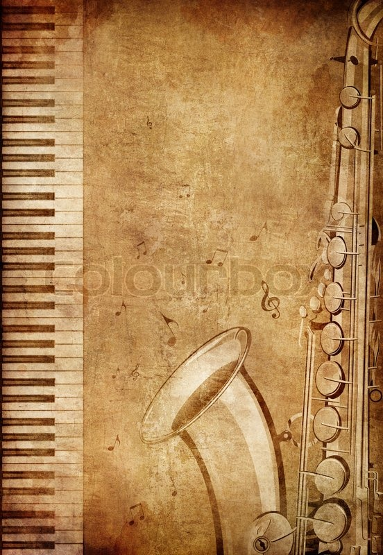 Old Paper Retro Music Party Texture Stock Photo