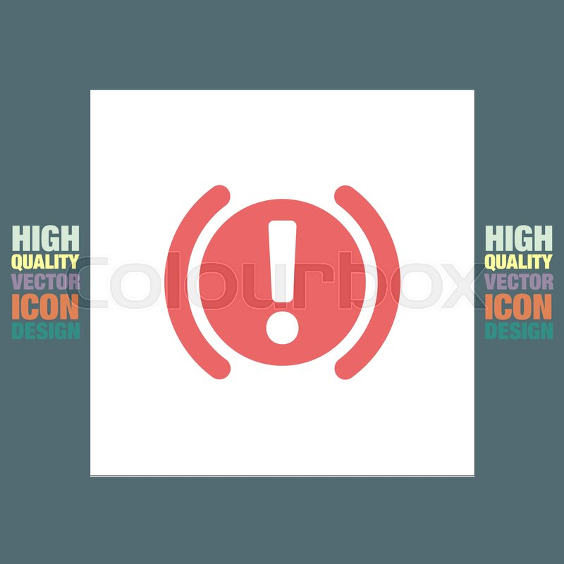 Car Parking Brake Signal Vector Icon Attention Symbol Stock