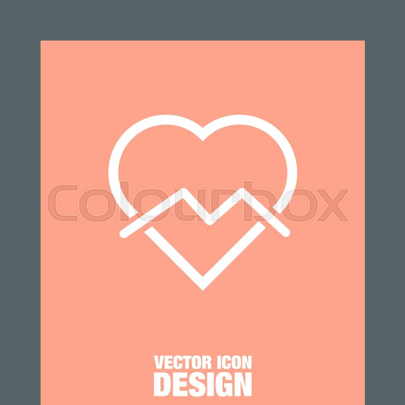 Broken Heart Sign Line Icon Divorce Sign End Of Love Vector Symbol