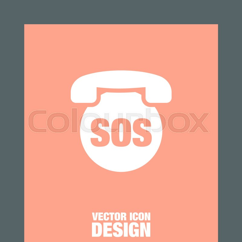 Stock Vector Of SOS Phone Icon Emergency Contact Sign EMS Cell Service