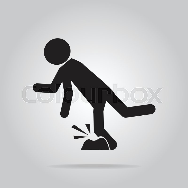 Man Tripping Over On Floor Person Injury Symbol