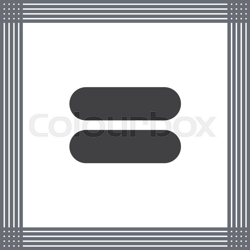 Equal Sign Vector Icon Equality Sign Mathematical Sum Symbol