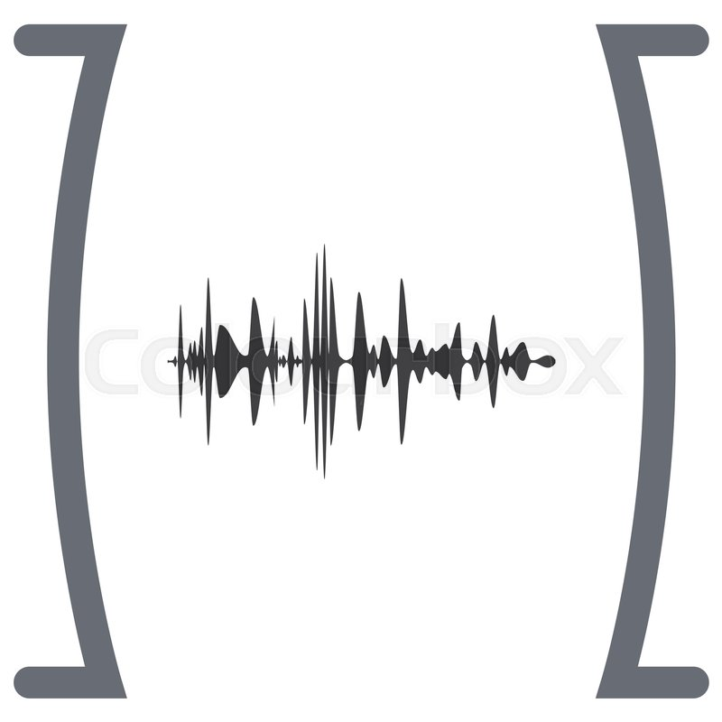 Audio Signal Vector Icon Sound Icon Music Symbol Stock Vector