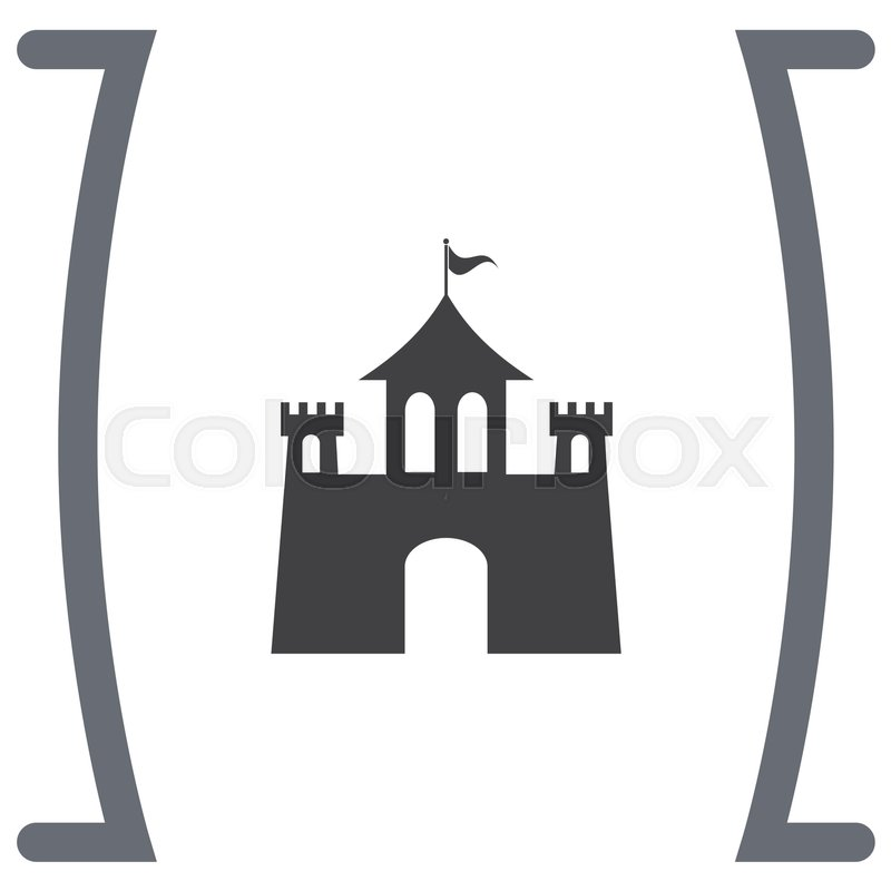 castle vector icon fantasy fortress sign medieval building symbol rh colourbox com castle victorian home plans castle victoria bc