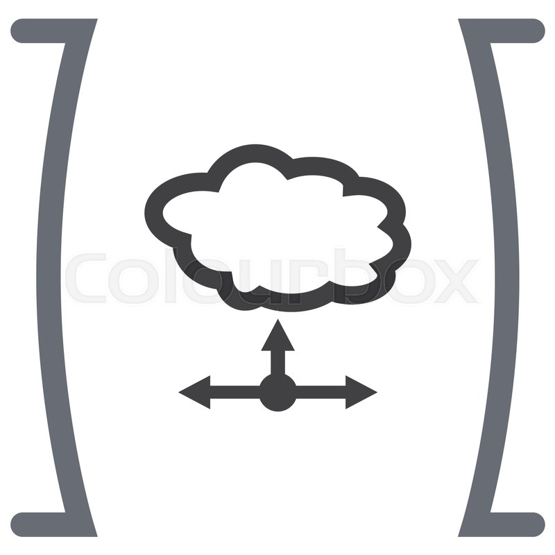 cloud server vector icon network data storage symbol web hosting