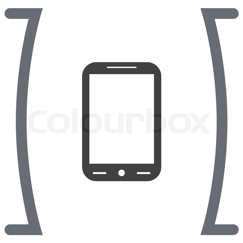 Smart Phone vector icon. Cell phone symbol. | Stock Vector | Colourbox