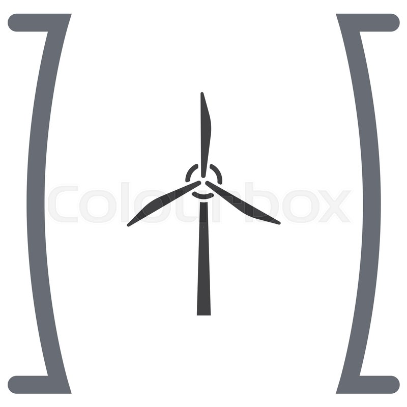 Wind Generator Vector Icon Windmill Sign Electricity Collection