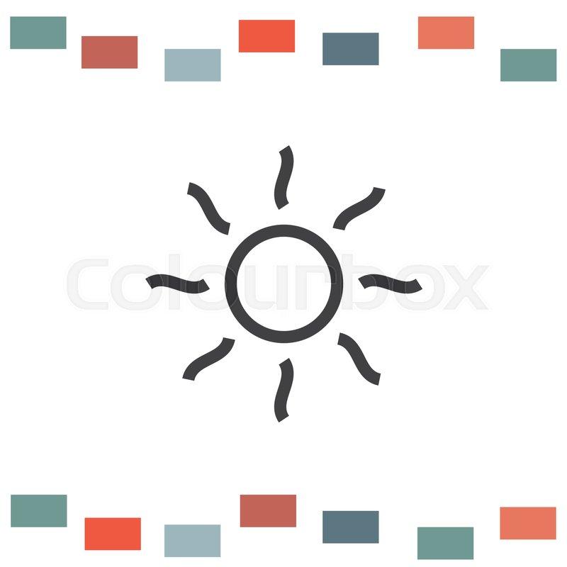 Shine Line Icon Sun Vector Sun Rays Sign Summer Symbol Hot