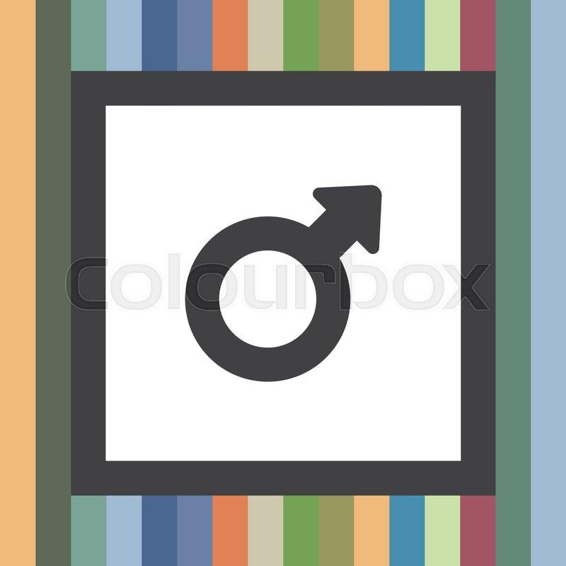 Male Gender Symbol Vector Icon Stock Vector Colourbox