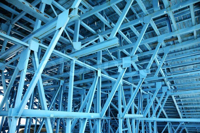 Scaffolding Steel Suppliers : Blue scaffold stock photo colourbox