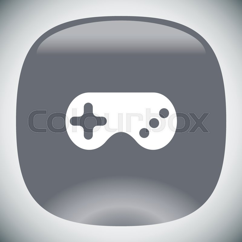 Game Controller Vector Icon Game Pad Sign Joystick Symbol Stock