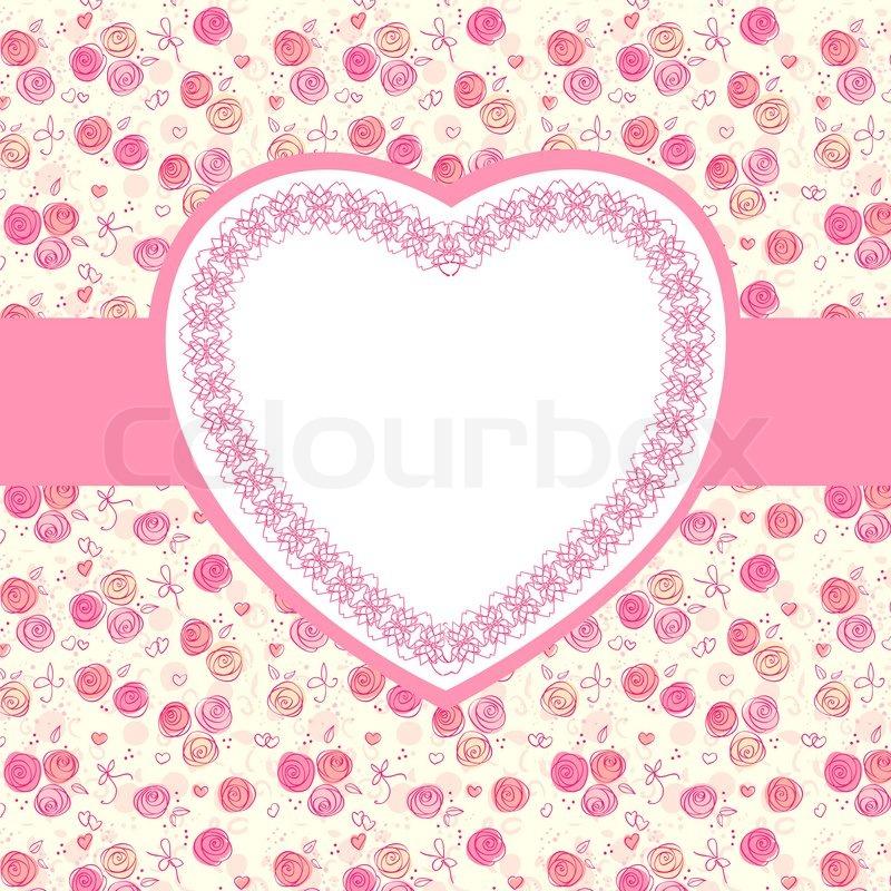 Heart shape design, vector background stock vector