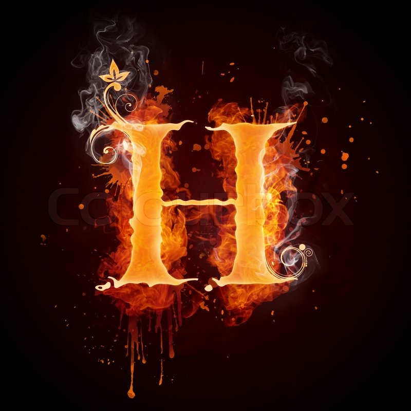 Fire swirl letter h isolated on black background computer design fire swirl letter h isolated on black background computer design stock photo colourbox altavistaventures Gallery