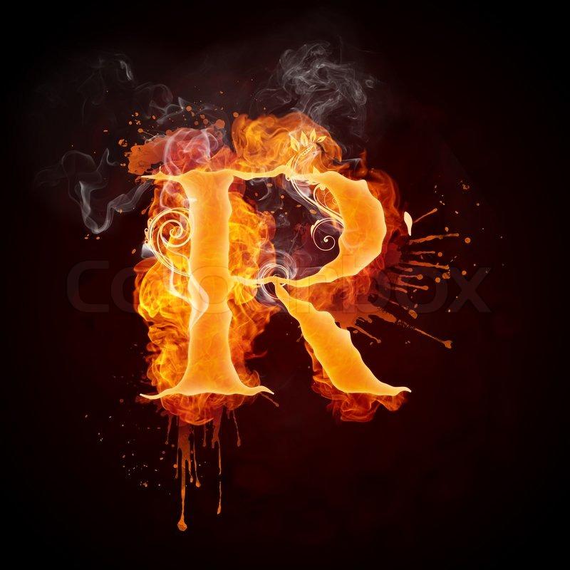 Letter R In Red Fire Letter R On Fire Video Ezmediart It S