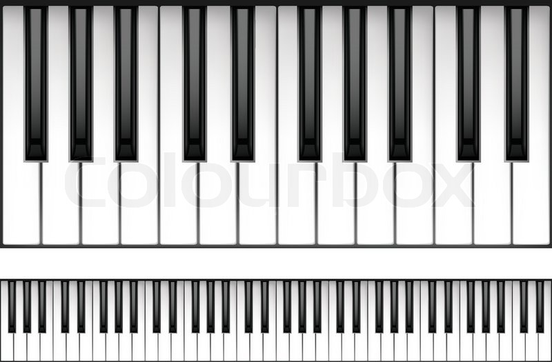 piano keyboard isolated on white background. vector. | stock