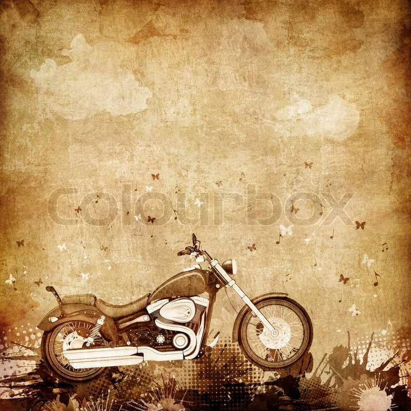 Retro Motorcycle Wallpaper: Old Paper. Retro Motorcycle. Texture Background For Bikers